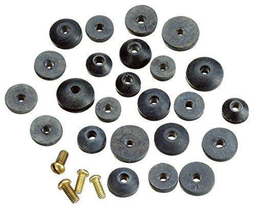 Plumb Pak PP20521 PlumPak Beveled Faucet Washer Assortment, Rubber, 3-1/4