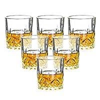 LXDZXY ワイングラス、6本のステムレスワイングラスセット、そしてグラスセット、家族の集まりや友人の集まりに適しています,2