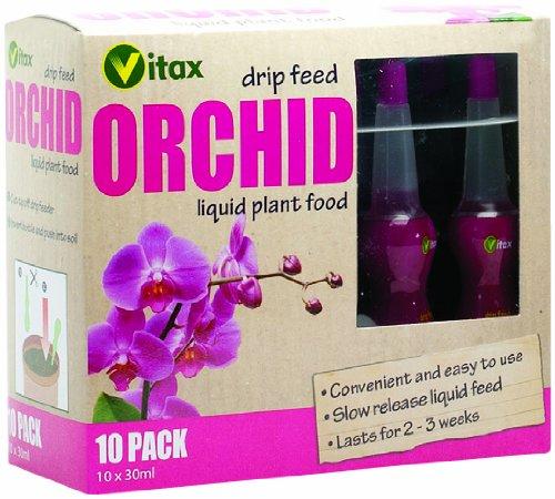 Vitax Ltd Unknown Vitax 30ml Orchid Drip Feed Mini Bottles (Pack of 10), Multicolored