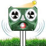 2021 Neu Katzenschreck,Ultraschall Abwehr mit Solarbetrieb und Blitz gegen Katzen, Hunde, Marder, Tierabwehr, Katzenschreck Hundeschreck Marderschreck, 5 Modus, IPX66 Wasserdichter