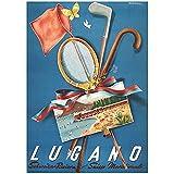 cutby Schweiz Schweizer Tessin Tourismus Poster Lugano