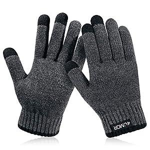 4UMOR 手袋 グローブ スマホ対応 タッチパネル 防寒 保温 冬用 メンズ&レディース プレゼント (L)