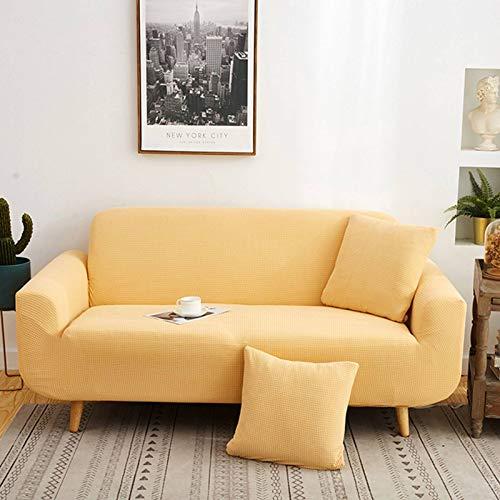FKING Funda elástica de jacquard, suave, antideslizante, a prueba de polvo, funda de sofá para sofá de 1 2 3 4 asientos, 190 – 230 cm