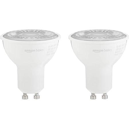 Amazon Basics 50W Equivalent, 3000K White, Dimmable, 10,000 Hour Lifetime, MR16 (GU10 Base) LED Light Bulb   2-Pack