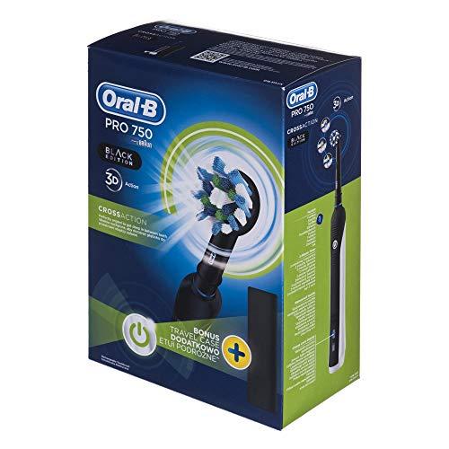Oral-B Pro 750 CrossAction Elektrische Zahnbürste schwarzweiß Black, Weiss, 1 gramm