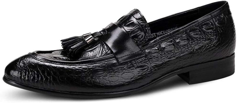 FLYSXP Britische Schuhe des Krokodilmusters Beschuhen Spitzenkleid Der Spitzenkleiderbraut-Schuhspitze Der Männer Herren Lederstiefel (Farbe : SCHWARZ) B07P99LG6S  | Billig ideal
