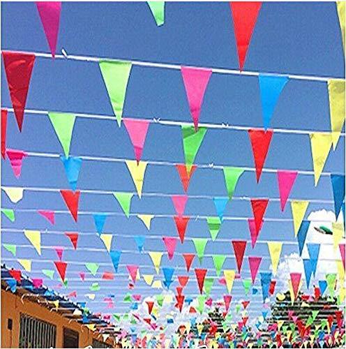 CHSYOO 10 x Multicolour Wimpel Banners 7.5m Vlaggenlijn Guirlande, voor Bruiloft Verjaardag Baby Shower Kids Party Garden Party