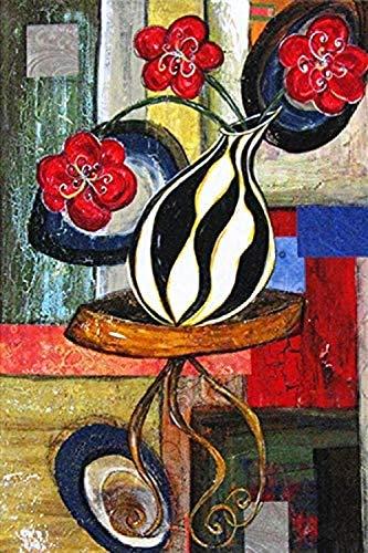 WOMGD® Kleurrijke flessen Porseleinen puzzel, Houten puzzels 1000 stukjes, Spelspeelgoed Uitdagend Diy Liefde Uniek cadeau Moderne kunst Interieur