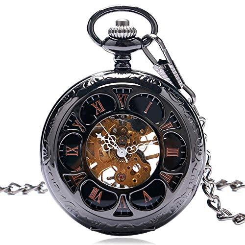 WMYATING Atmosphère Nouvelle et Haut de gamme, précision de Vintage Negro/Plata Semicírculo Mano mecánico Mano de Viento Reloj de relojería Steampunk Mujeres Reloj Regalos (Color : Silver)