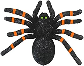 """Amscan   Halloween Trick or Treat Party Decoration   Halloween Glitter Spider    Measures 6 1/4"""" x 7 3/4"""""""