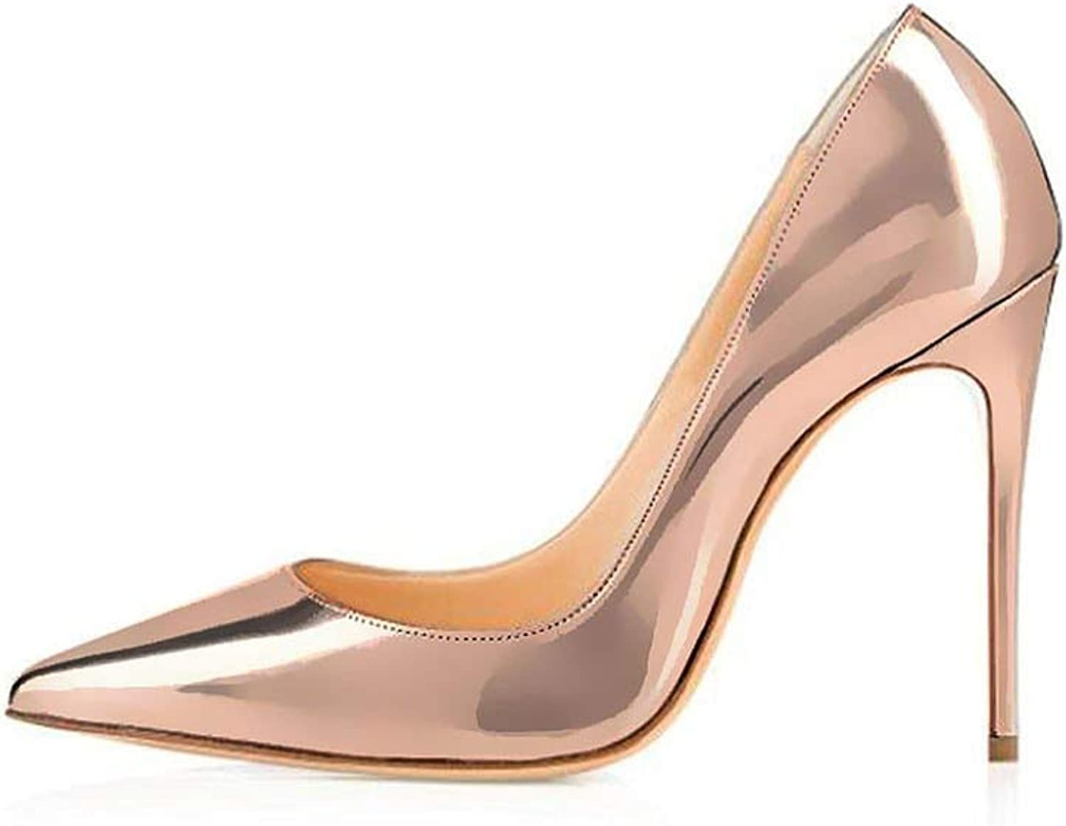 Women High Heels shoes pink gold Pointed Toe High Heeled Party Prom Wedding Pointy Toe Sexy Pumps