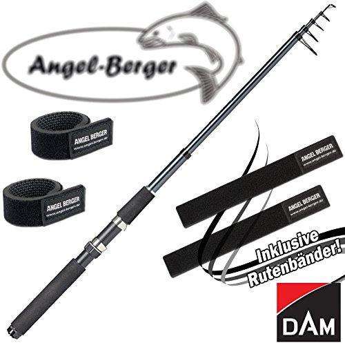 Angel-Berger Dam Camaro Tele Spin Teleskoprute Spinnrute alle Modelle Rutenband (3,60m / 30-60g)