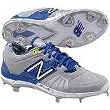 New Balance Men's L3000v2 Low Metal Baseball Cleats Grey/Blue 2E 15