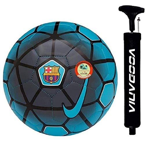VOODANIA Telstar Combo Pack 1 Football & 1 pump PU material multi color size 5 for All Age Groups Kids Fans of Euro Cup copa America letin American Football New Age All Surface Football