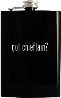 got chieftain? - Black 8oz Hip Drinking Alcohol Flask