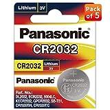 Panasonic CR2032 Lot de 2 Piles Lithium Batterie 3 V (5PC) X = 10 Piles à Usage Unique