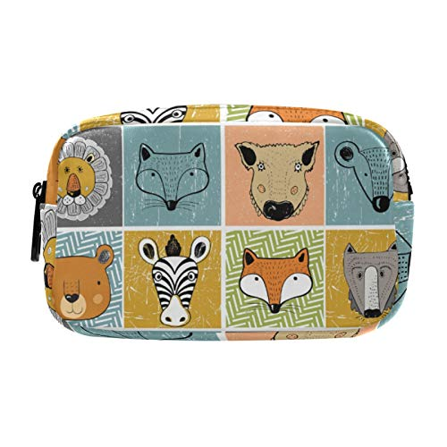 Gifts for Women, Makeup Bag, Cosmetic Bag, Toiletry Pouch Travel Accessories, Set of Forest Animals