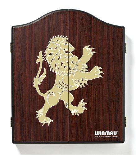 WINMAU Rosewood Lion Deluxe Dartscheibe Schrank