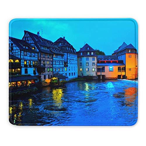 France Petite Strasbourg Tapis de Souris Souvenir Cadeau 7,9 x 9,5 po Tapis en Caoutchouc de 3 mm