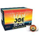 Lean Joe Bean K-Cup Coffee | from The Star Trainer on The Biggest Loser | Slimming & Detox Cleanse Blend | Keto Friendly Bulletproof Coffee | Dark Roast Arabica Coffee (10) Pods