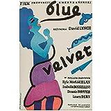 wzgsffs Blue Velvet Movie Wall Art Film Poster and Prints