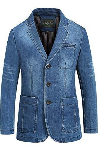 Lannister Mode Trend Herrenbekleidung Frühling Freizeit Geschäft Festlich Denim Bekleidung Herbst Anzugjacke Herren Groß Größe Lose Jeanssakko Blazer Jacke Men Cowboy Suit Jacket Coats