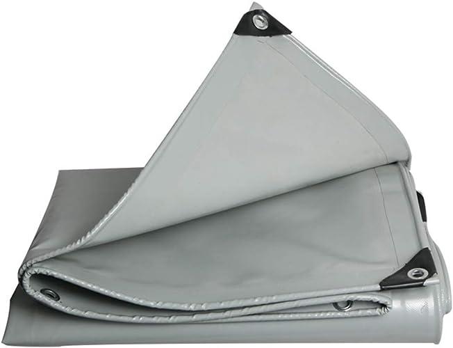 YHUJH Bache imperméable, Couteau de PVC grattant la bache de Prougeection bache imperméable gris de bache d'épaississement de Prougeection Solaire (Taille   10  12m)