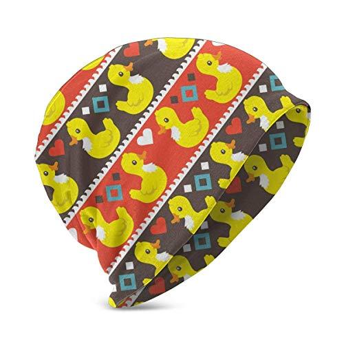 XCNGG Unisex Niños Beanie Caps Impresión 3D Pato de Dibujos Animados Divertido Corazón Amor Gorra de Calavera Sombrero de Tejer Cálido Invierno Verano Sombreros de Punto para niñas Niños Negro