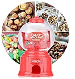 NIDY� 1Pc Mini Candy Gumball Jelly Beans Sugar Vending Machine Snack Dispenser Cute Sweets Mini Candy Machine Bubble Gumball Dispenser Coin Bank (Candy Gumball Not Included) (Red)