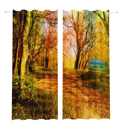 Lemare Lot de 2 Rideaux Opaques Impression numérique 145 x 260 cm