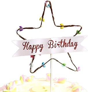 OOOUSE - Lámpara para Tartas de cumpleaños, decoración para Tartas con botón Integrado para Baby