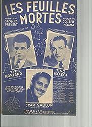 Les feuilles mortes - Yves Montand - Tino Rossi - Jean Sablon