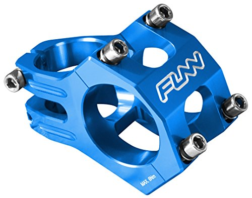 Funnduro MTB Stem, Bar Clamp 35mm, Ultralight and Tough Alloy stem for Mountain Bike (Length 35mm, Blue)