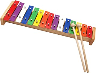 HOMYL 15-Notes Aluminum Plate Multi-Colored Piano Toys Xylophone Kids Gift Toys