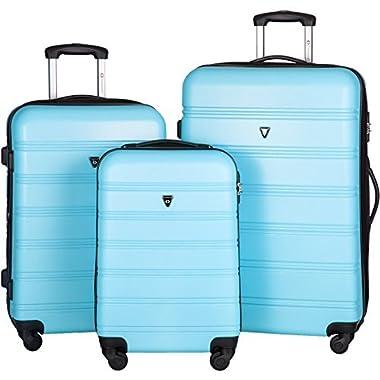 Merax Travelhouse Luggage 3 Piece Expandable Spinner Set (SkyBlue_1)
