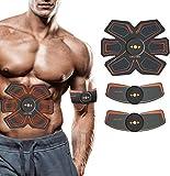 Elettrostimolatore per Addominali, Electric Massager, Braccia, Gambe,Fascia per Addome Pratico e Leggero Uomo e Donna 10 Intensità