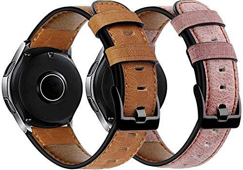 Gransho Correa de Reloj Compatible con Fossil Homme Montre Connectée 5ème Génération/Gen 5 (44MM) / Gen 5E (44MM), Cross Piel Correa/Banda/Pulsera/Reemplazo (22mm, Pattern 5+Pattern 7)