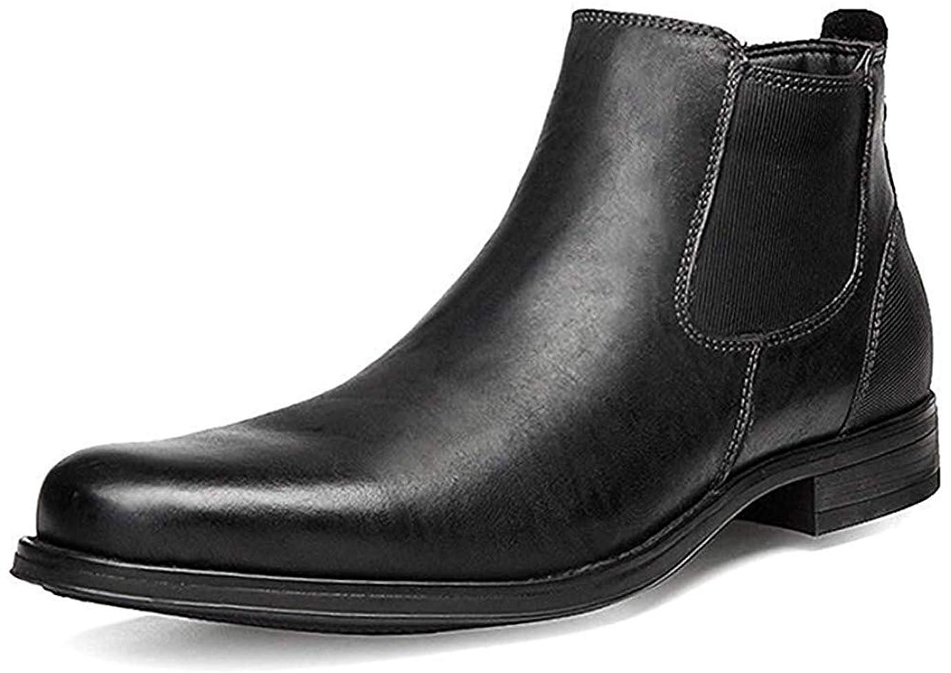 治療覆すお尻ブーツ マーティンブーツ メンズ ビジネスシューズ 革靴 ショートブーツ ジッパー 防水 滑り止め