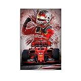 LIANGBO Sfondi Ferrari F1 Leclerc Leinwand Kunst Poster und