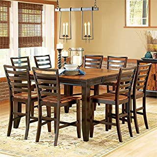 Abaco Two-Tone Cordovan Cherry 9-Piece Counter Height Dining Set