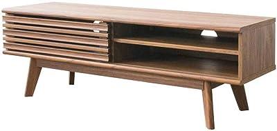 アイリスプラザ テレビ台 スライドパネルTV台 ブラウン 木目調 MSTR-120 幅約118×奥行約38.6×高さ約40.8㎝