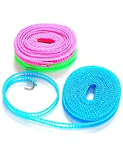Right Products Clotheslines Clothes Dryer Cloth Hanging Rope Clothes Hanger Non-Slip Clothesline Rope Drying Travel - 3 Meter