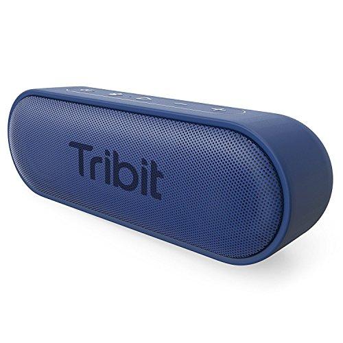Bluetooth Lautsprecher, Tribit XSound Go Tragbarer Lautsprecher IPX7 Wasserdicht,12W Kabelloser Lautsprecher mit Bass+, 24 Stunden Spielzeit, 20M Bluetooth Reichweite (Blau)