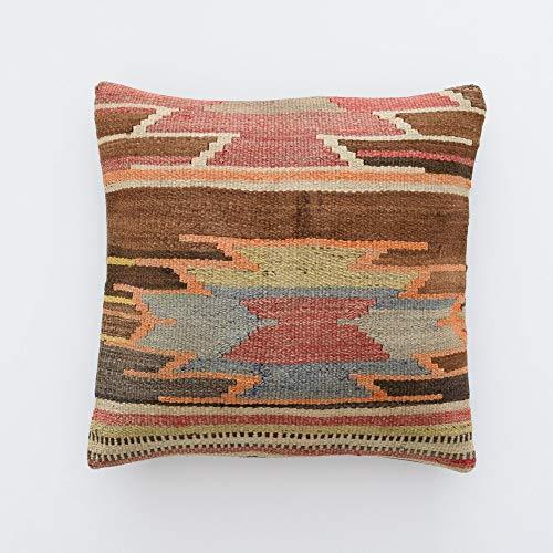 Tr73ans Funda de almohada clásica étnica 18x18 marroquí almohada cojín de regalo étnico clásico fundas de almohada kussenhoes kissen marokko cojín tribal almohada étnica funda de almohada