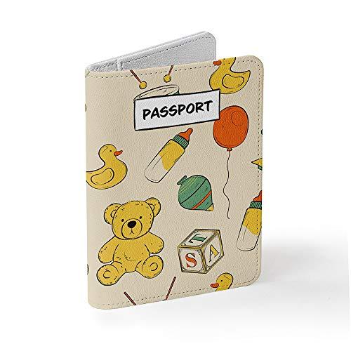 Tick&Pickパスポートケース スキミング防止 - SIMカード取り外しツール付属 - おしゃれとかわいいデザイン (キッドパターン)