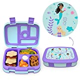 Bentgo Kids Prints Leak-Proof, 5-Compartment Bento-Style Kids Lunch Box - Ideal Portion Sizes for...