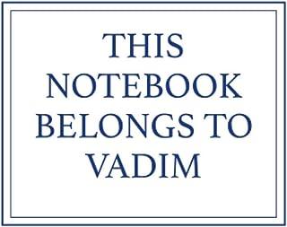 This Notebook Belongs to Vadim