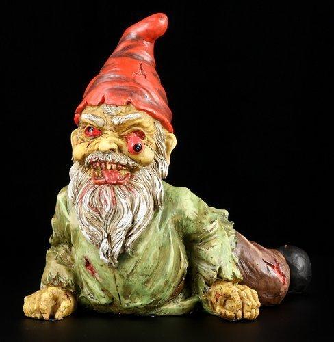 Statua Zombie-Gnomo da giardino Hozelock-Crawling Undead Horror-Statuetta PTC