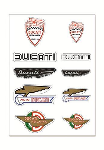 Ducati Corse Aufkleber Set Sticker DUCATI HISTORICAL MECCANICA MIX