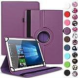 Nauci Tablet Hülle für Xido Z120 Z110 X111 X110 Tasche Schutzhülle Case Cover aus Kunstleder Standfunktion 360° Drehbar, Farben:Lila